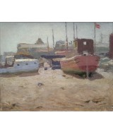 Alan Stenhouse Gourley - Beached Boats