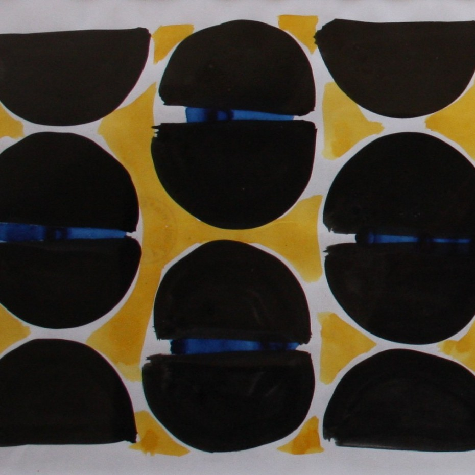 Anthony Benjamin - Abstract in yellow, black and blue