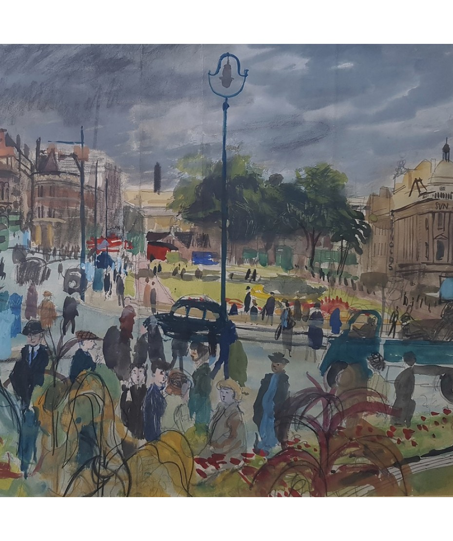 Denis William Reed - A Busy City Centre