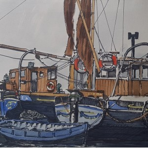 Hugh Knollys - Boats at Harwich, Essex