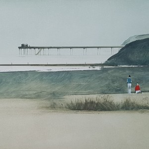 John Bond - Two Figures and a Pier