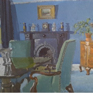 Monica Pountney - An interior with a Black Fireplace