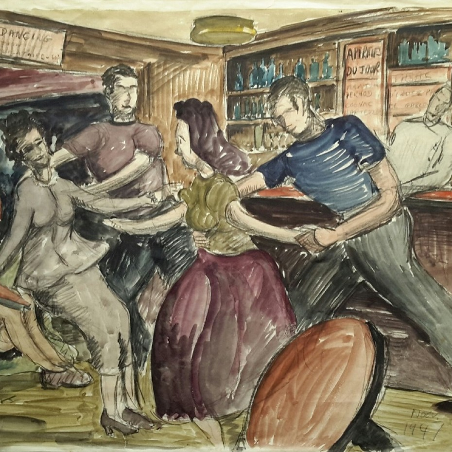 Noel Brannan - Dancing in a French Bar 1947