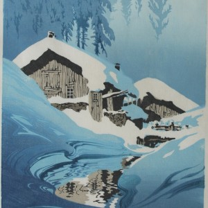 Oscar Droege - Alpine Winter Scene