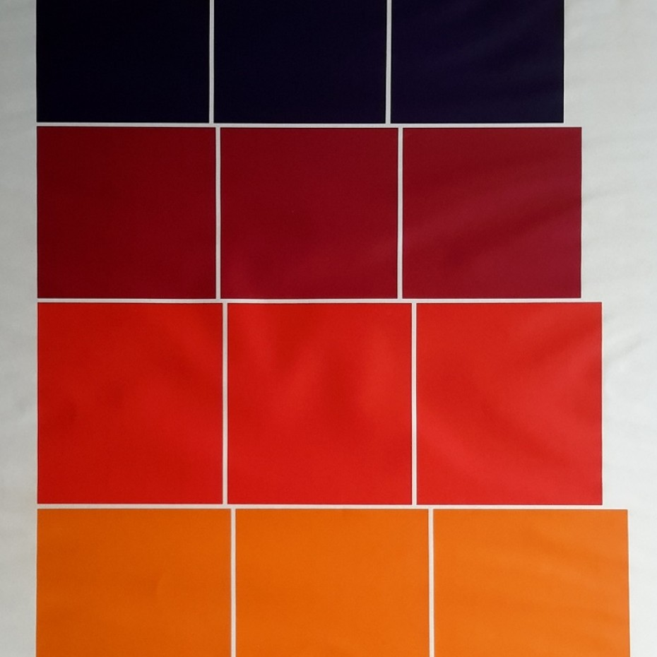 Peter Hedegaard - Graded Steps: Orange, red and purple